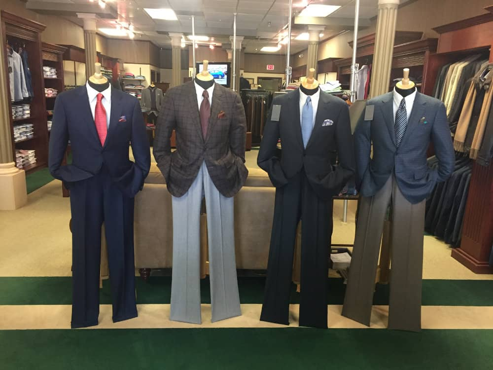 men's suits and clothing