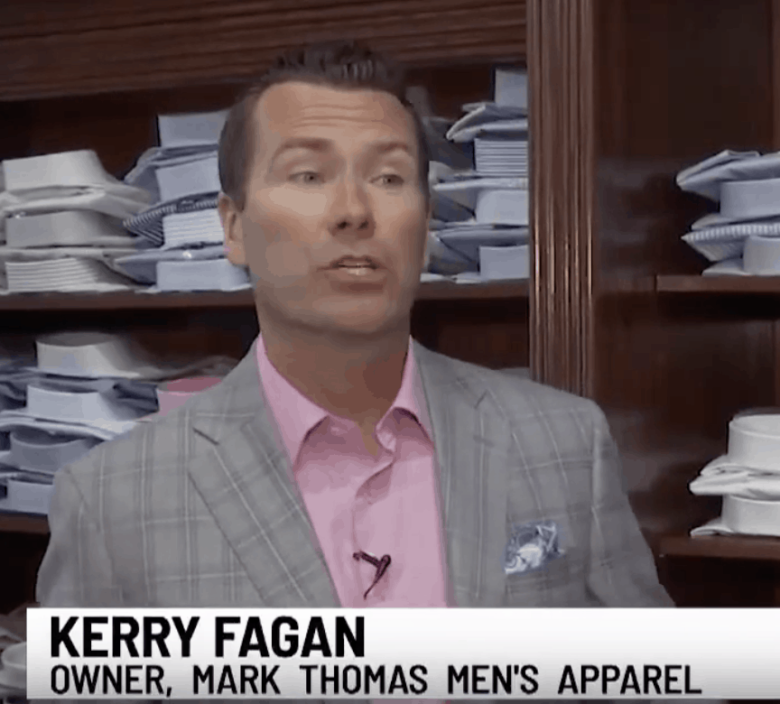 Kerry Fagan of Mark Thomas Men's Apparel discusses men's fashion