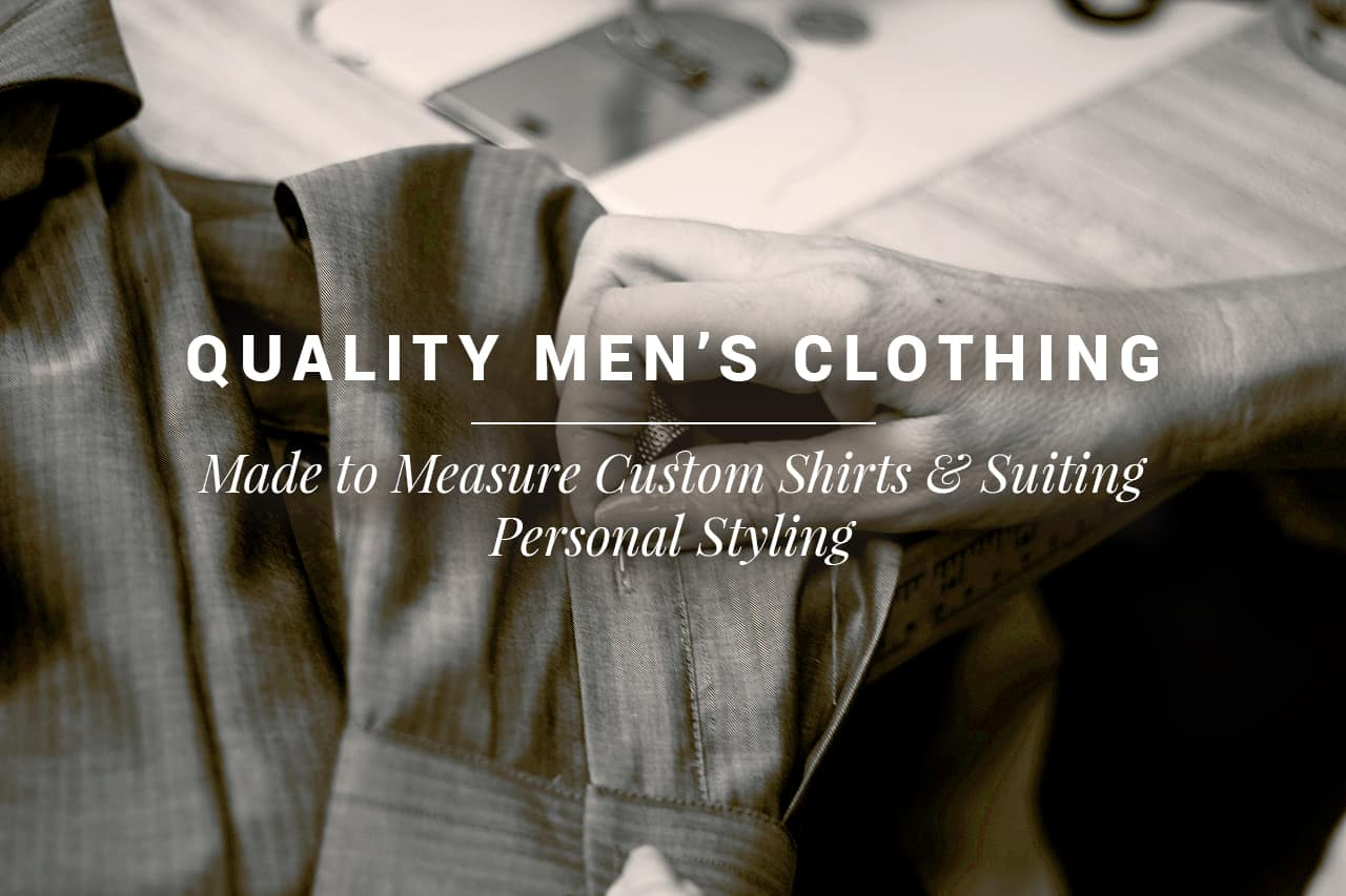 Man tailoring quality and custom men's suit.